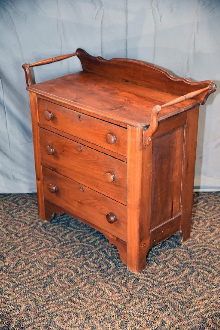 3 Drawer Walnut Washstand - 6