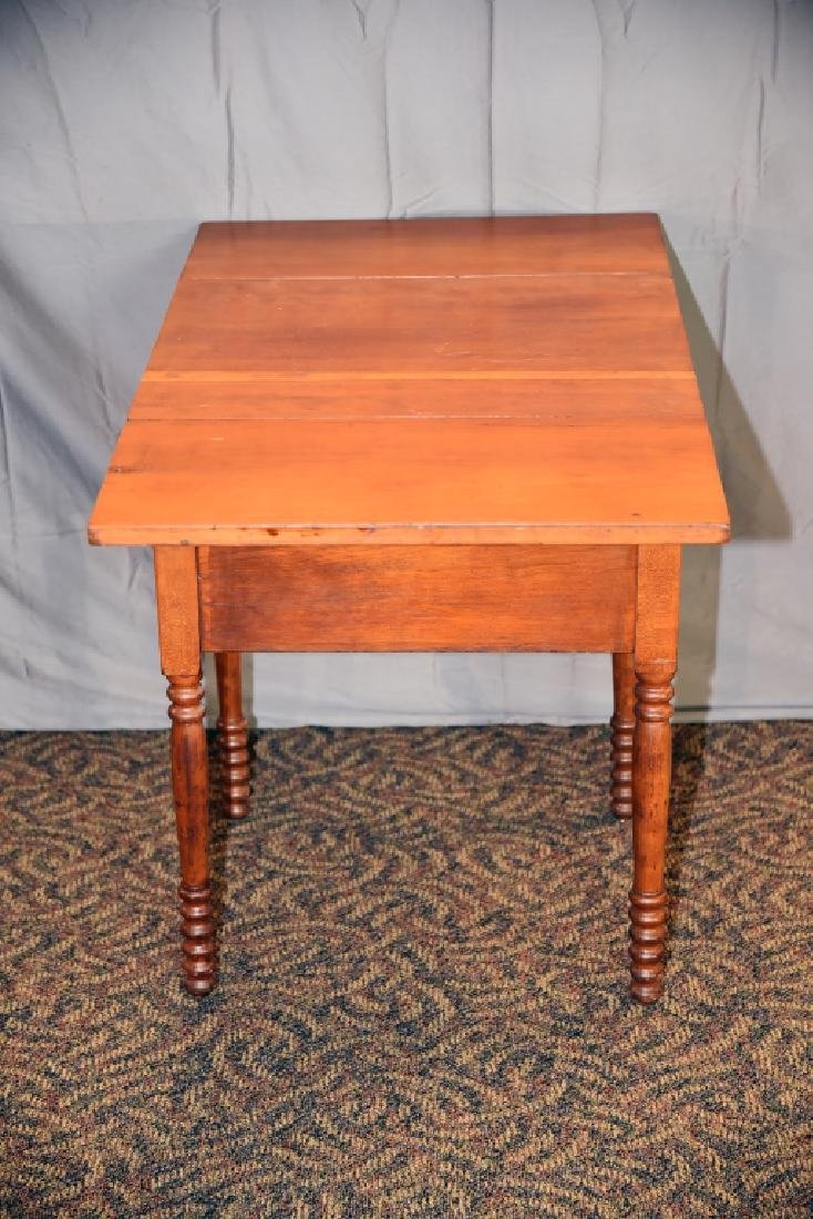 Cherry 2 Drawer Drop Leaf End Table - 5