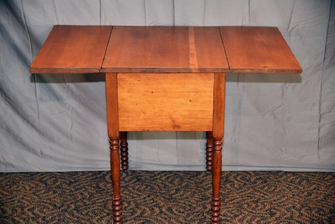 Cherry 2 Drawer Drop Leaf End Table - 6