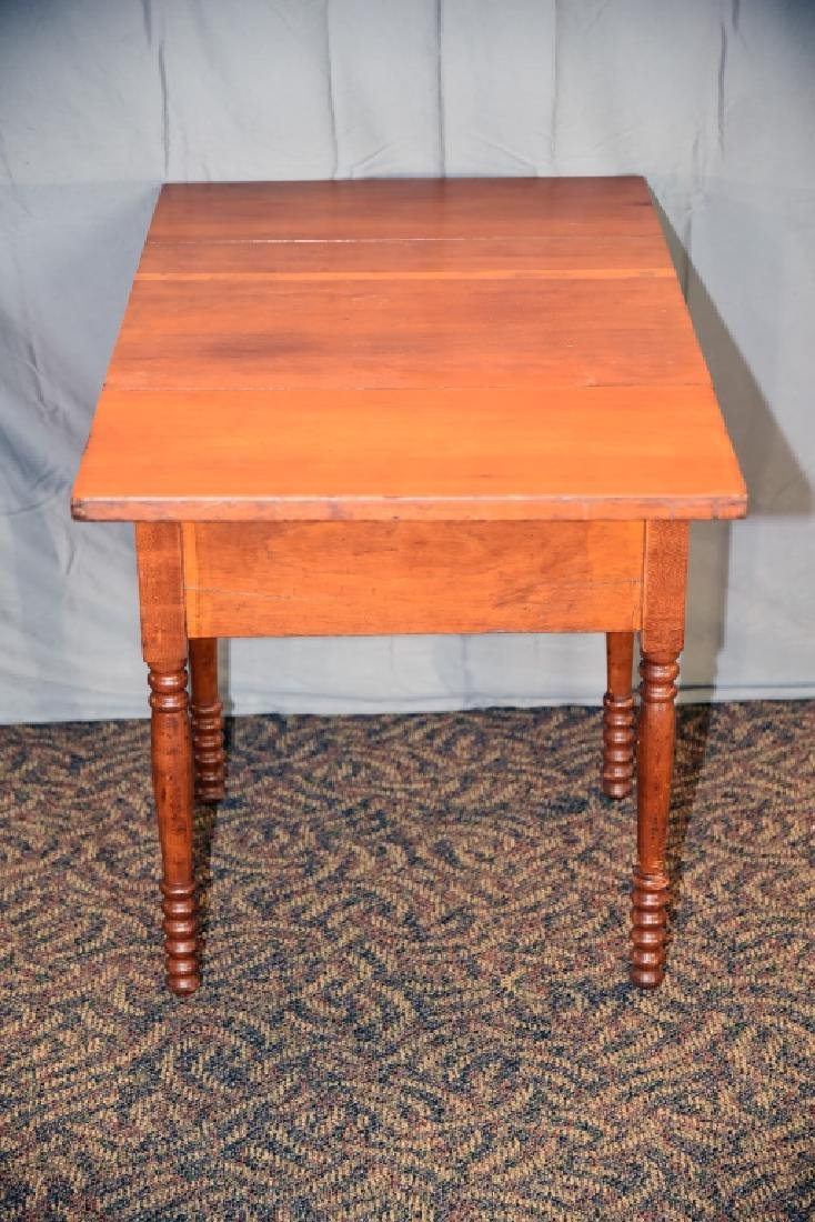 Cherry 2 Drawer Drop Leaf End Table - 7