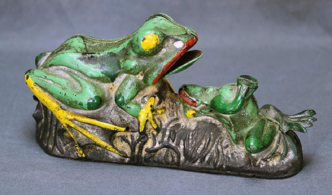 2 Frogs Mechanical Bank J&E Stevens Company