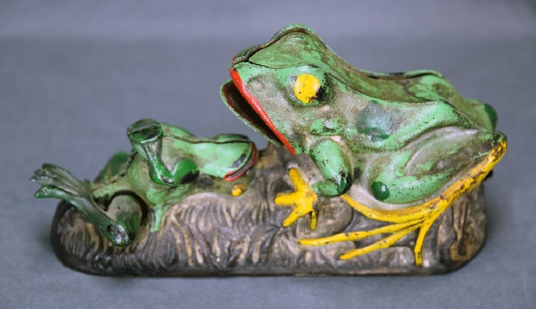 2 Frogs Mechanical Bank J&E Stevens Company - 3