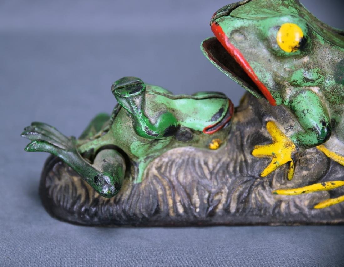 2 Frogs Mechanical Bank J&E Stevens Company - 4