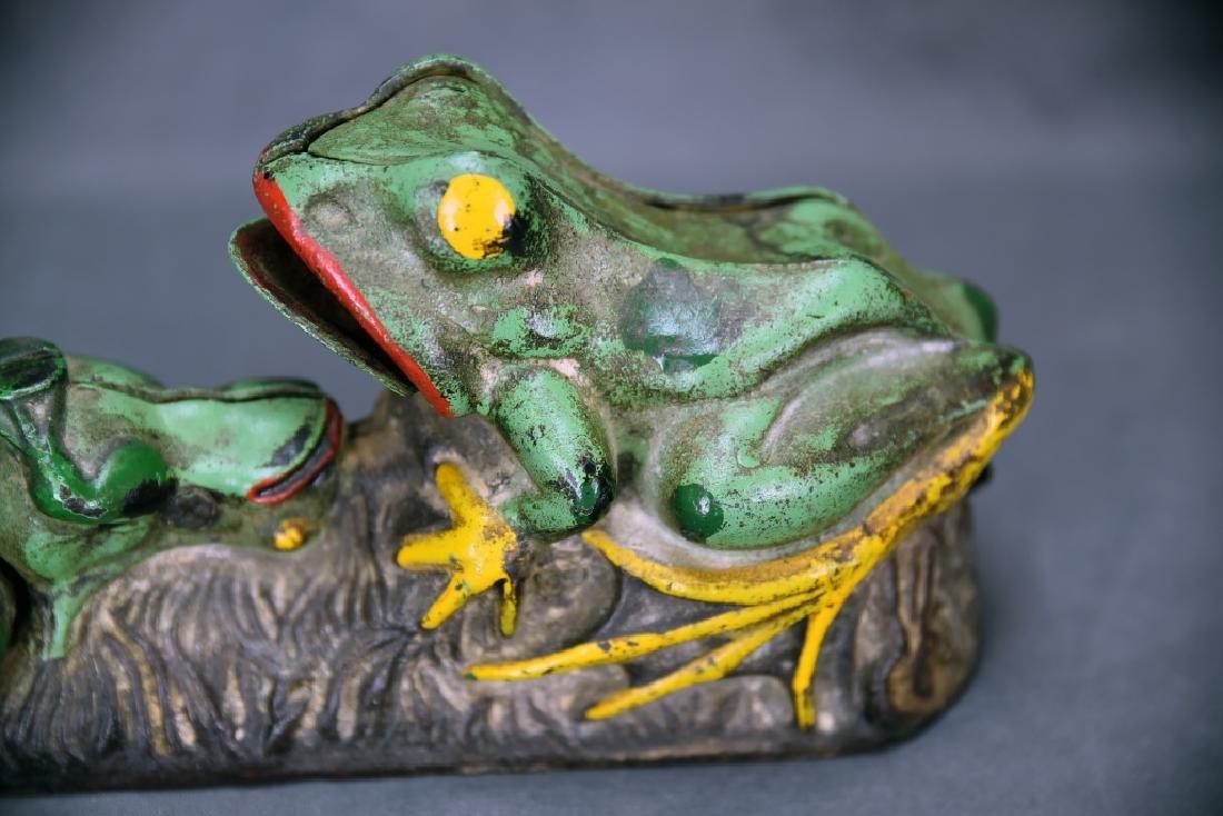 2 Frogs Mechanical Bank J&E Stevens Company - 5
