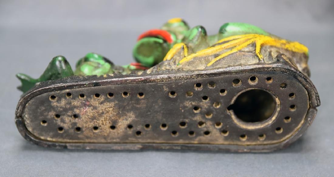 2 Frogs Mechanical Bank J&E Stevens Company - 6
