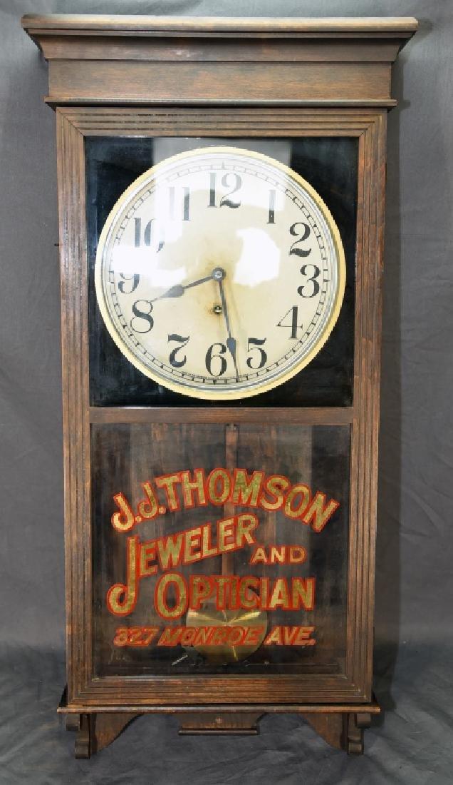 "Advertising Clock ""JJ Thomson Jeweler & Optician"""