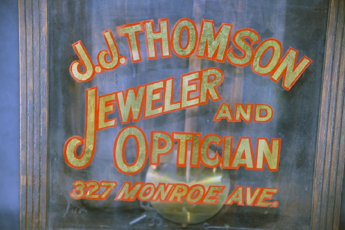 "Advertising Clock ""JJ Thomson Jeweler & Optician"" - 2"
