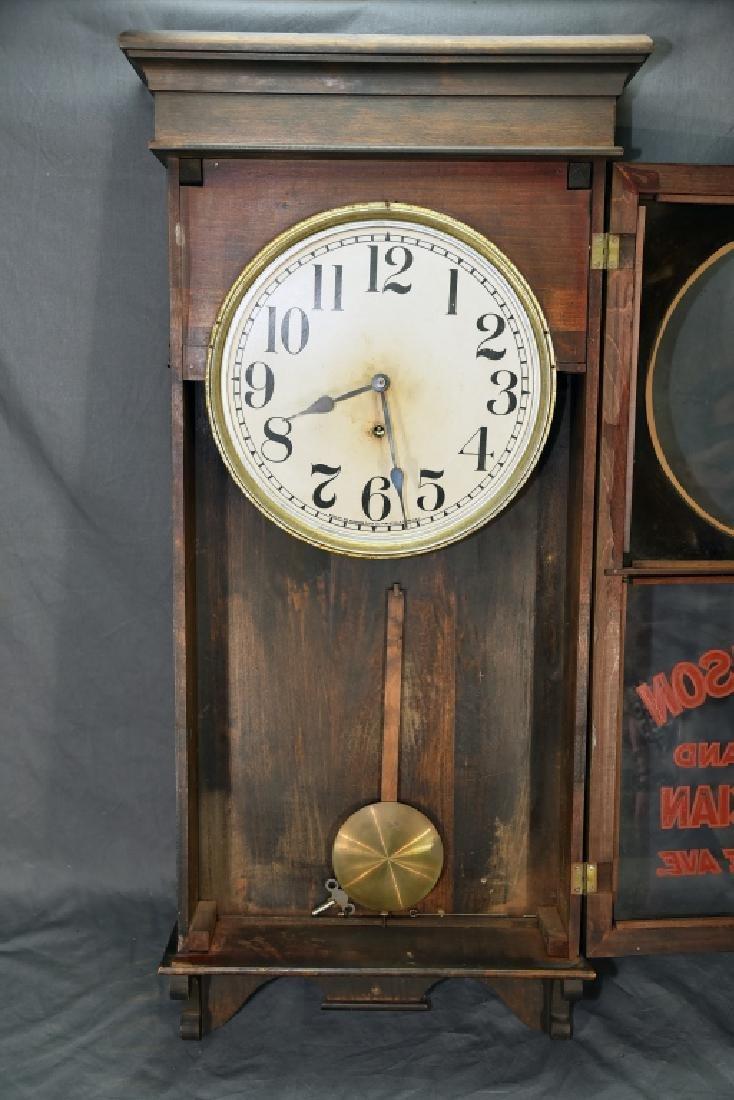 "Advertising Clock ""JJ Thomson Jeweler & Optician"" - 3"