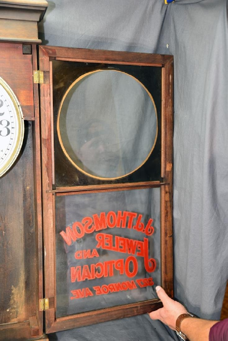 "Advertising Clock ""JJ Thomson Jeweler & Optician"" - 4"
