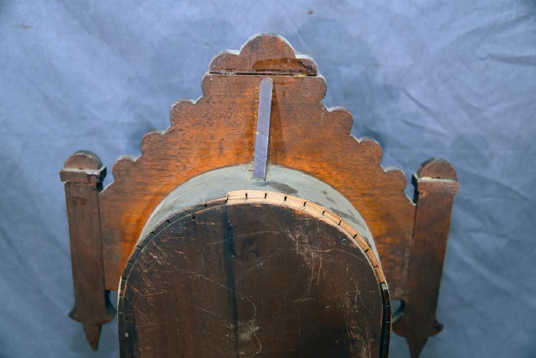 Waterbury Walnut Gingerbread Mantle Clock - 10