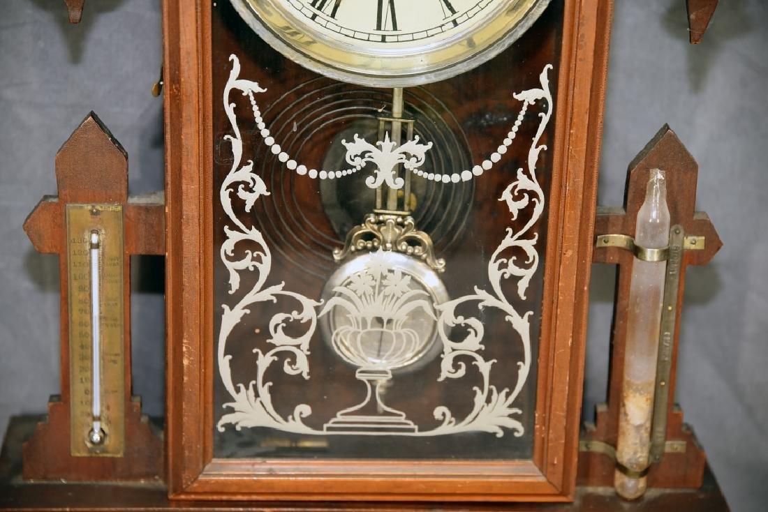 Waterbury Walnut Gingerbread Mantle Clock - 4