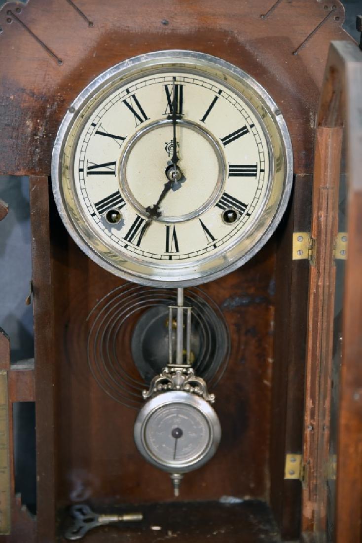 Waterbury Walnut Gingerbread Mantle Clock - 5