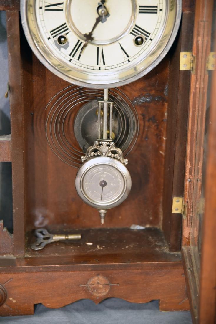 Waterbury Walnut Gingerbread Mantle Clock - 6