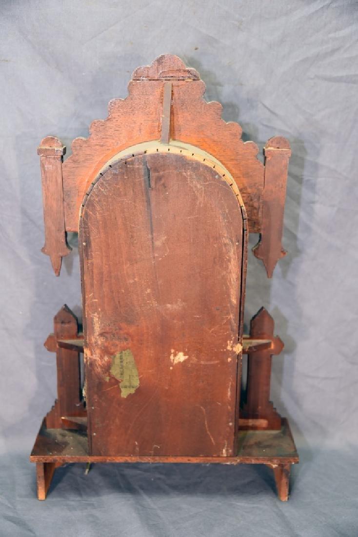 Waterbury Walnut Gingerbread Mantle Clock - 9