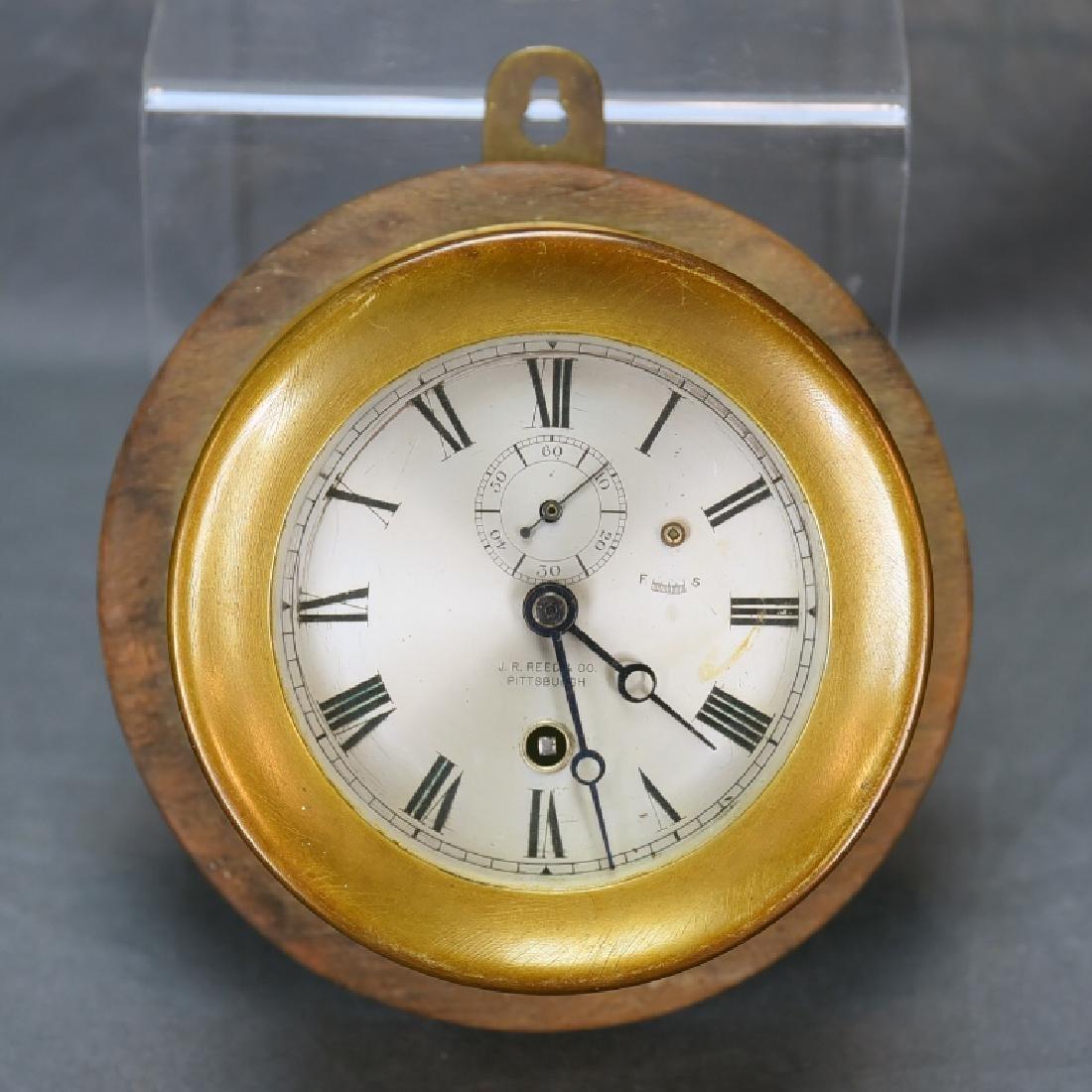 Brass Ships Clock J.R. Reed