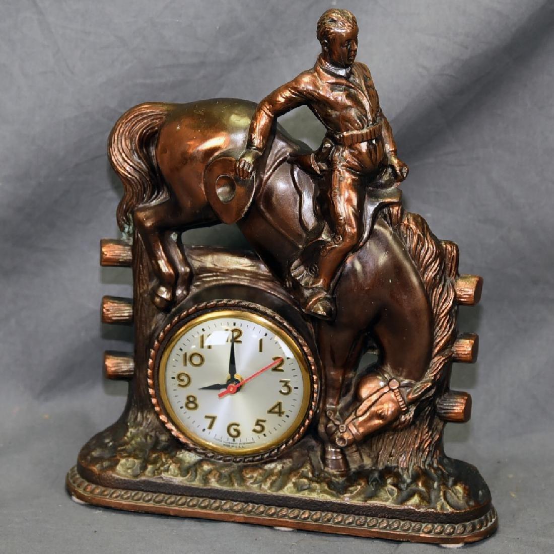 Sessions Bucking Bronco Western Clock
