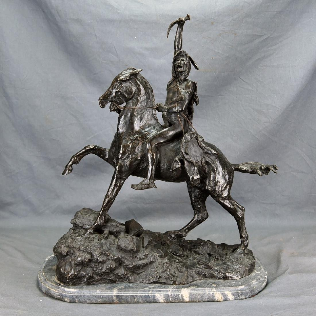 "Signed Frederick Remington ""The Scalp"" Bronze"