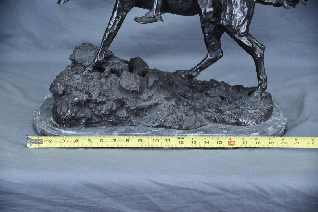 "Signed Frederick Remington ""The Scalp"" Bronze - 2"