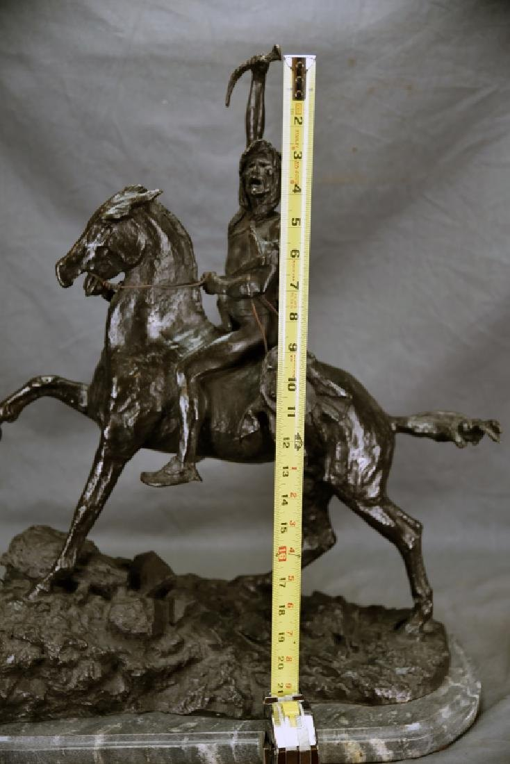 "Signed Frederick Remington ""The Scalp"" Bronze - 3"
