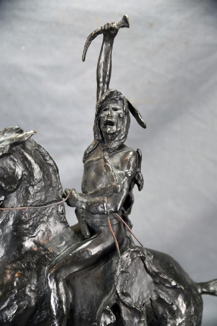 "Signed Frederick Remington ""The Scalp"" Bronze - 4"