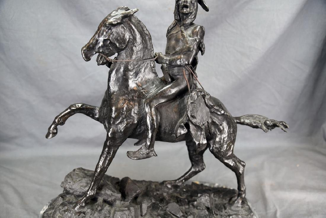"Signed Frederick Remington ""The Scalp"" Bronze - 6"