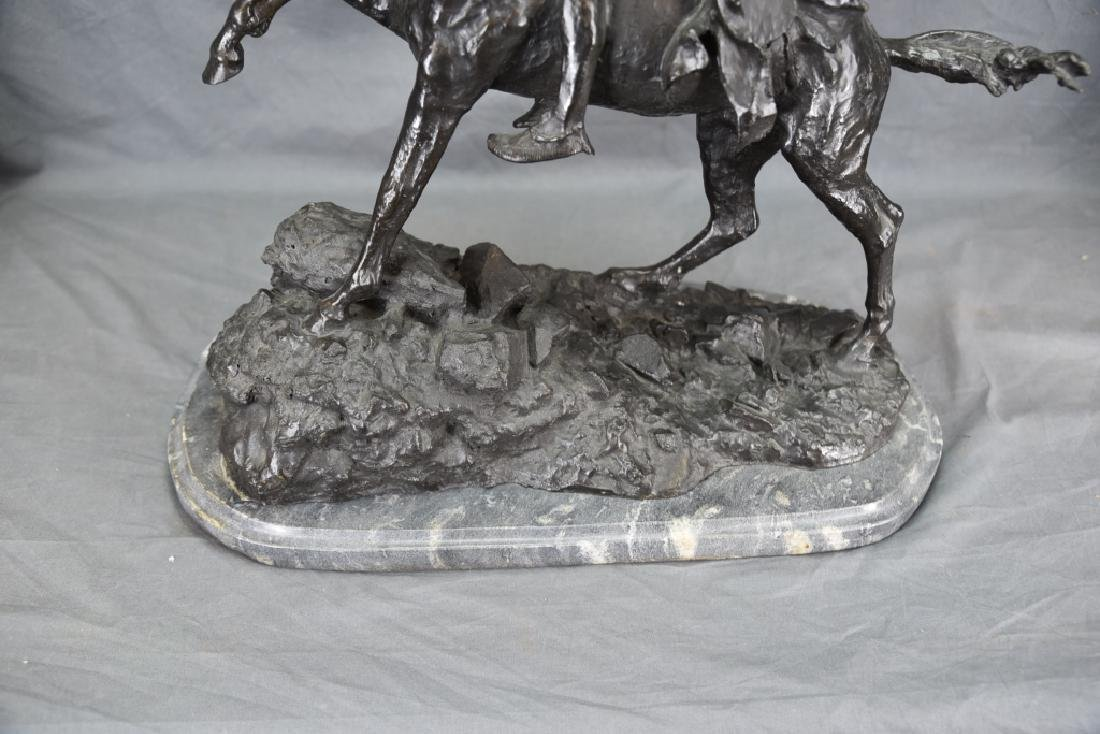 "Signed Frederick Remington ""The Scalp"" Bronze - 7"