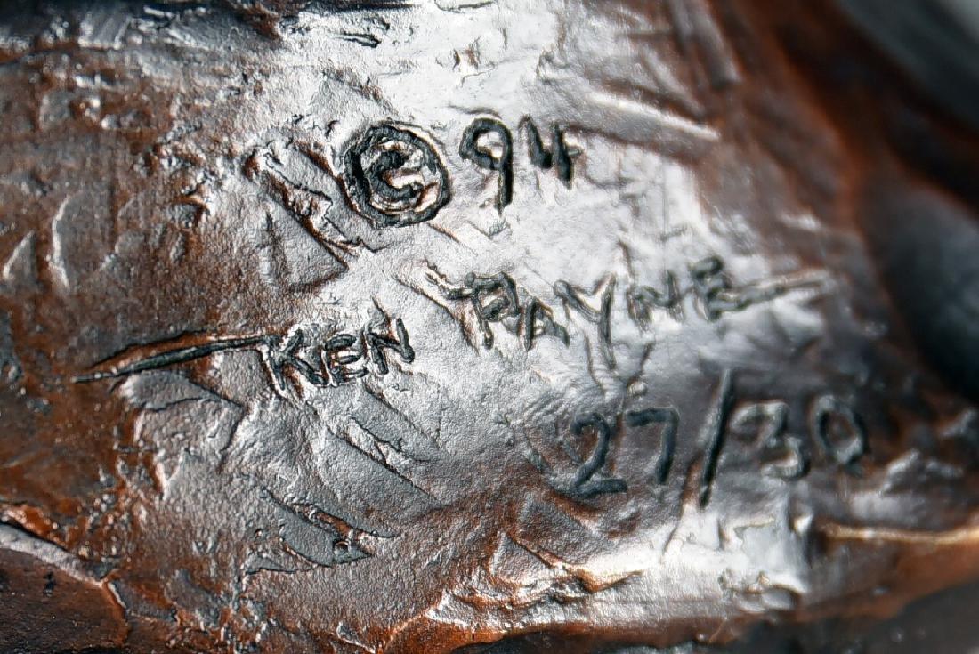 "Signed Ken Payne ""Walks Among His Enemies"" Bronze - 10"