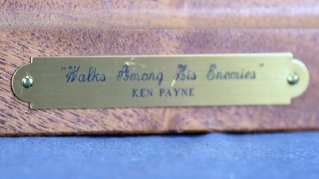 "Signed Ken Payne ""Walks Among His Enemies"" Bronze - 2"