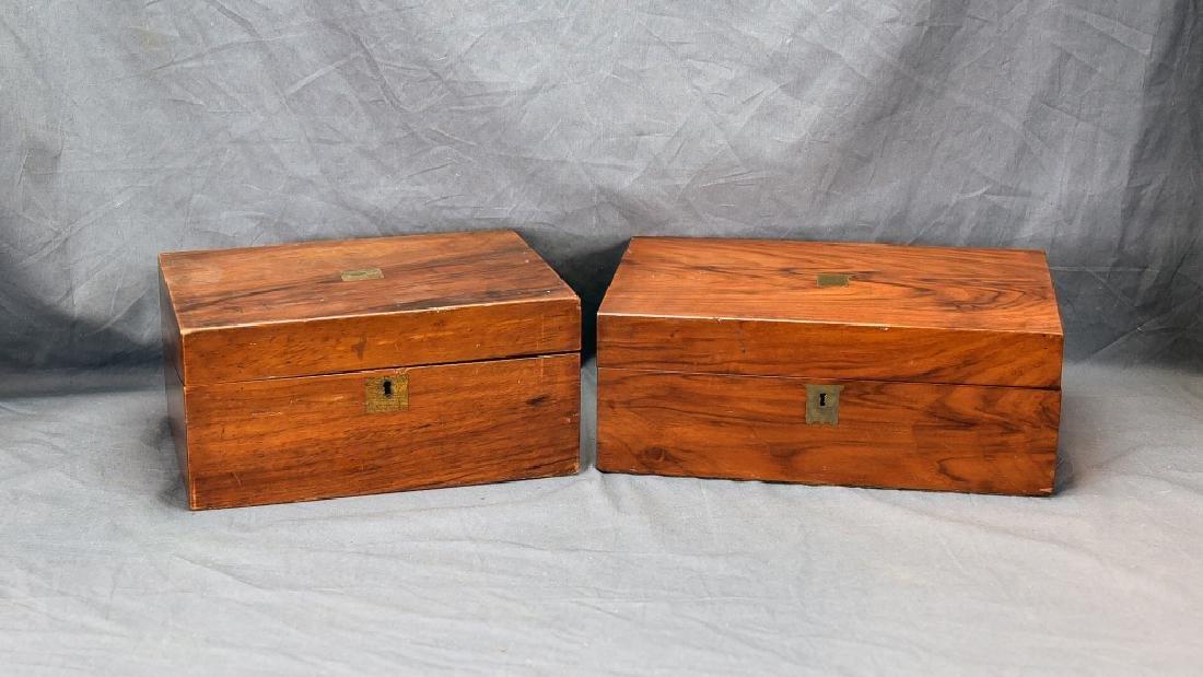 2 19th Century Brass Inlaid Folding Lap Desks