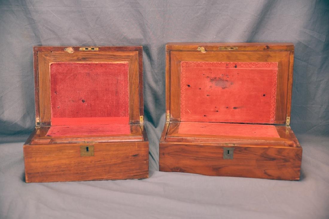 2 19th Century Brass Inlaid Folding Lap Desks - 2