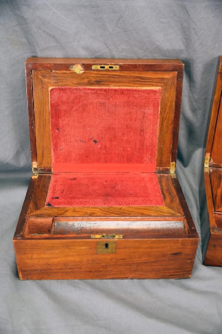 2 19th Century Brass Inlaid Folding Lap Desks - 3