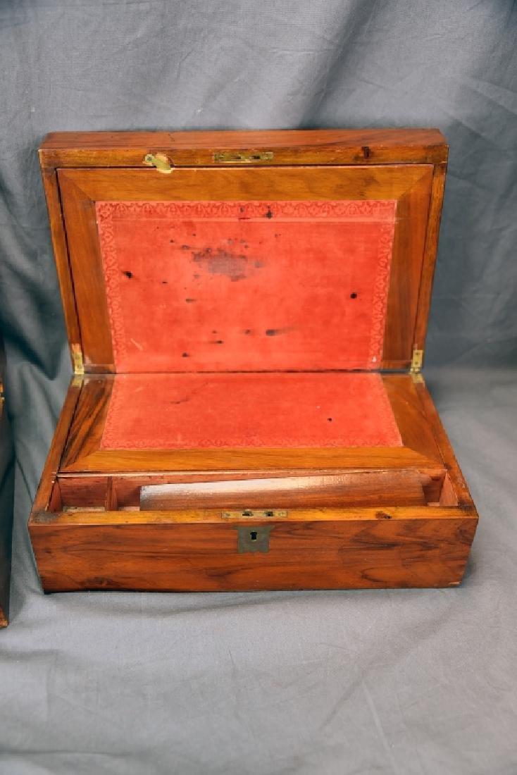 2 19th Century Brass Inlaid Folding Lap Desks - 4