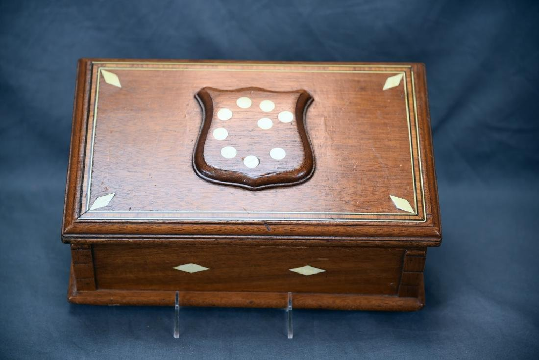 19th Century Bone Inlaid Dresser Box