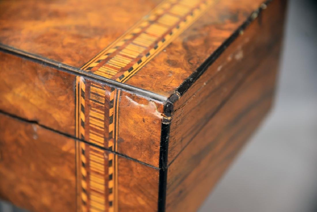 Burled Wood Inlaid Storage Box - 3