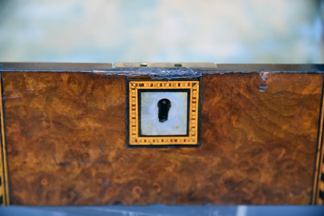 Burled Wood Inlaid Storage Box - 7