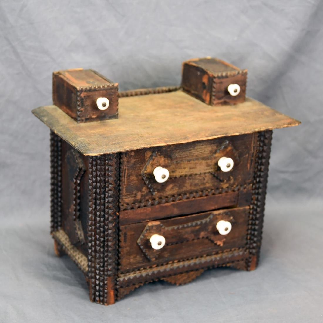Tramp Art Miniature Dresser