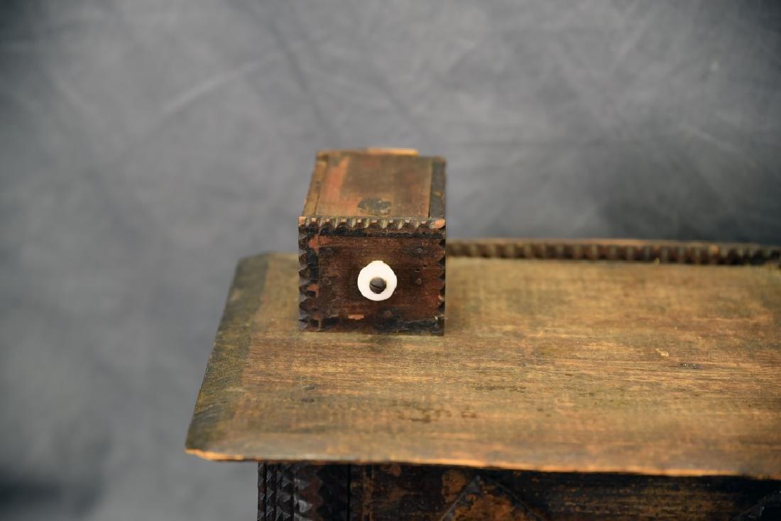 Tramp Art Miniature Dresser - 3