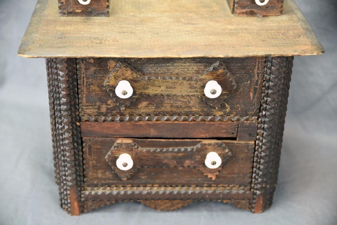 Tramp Art Miniature Dresser - 4