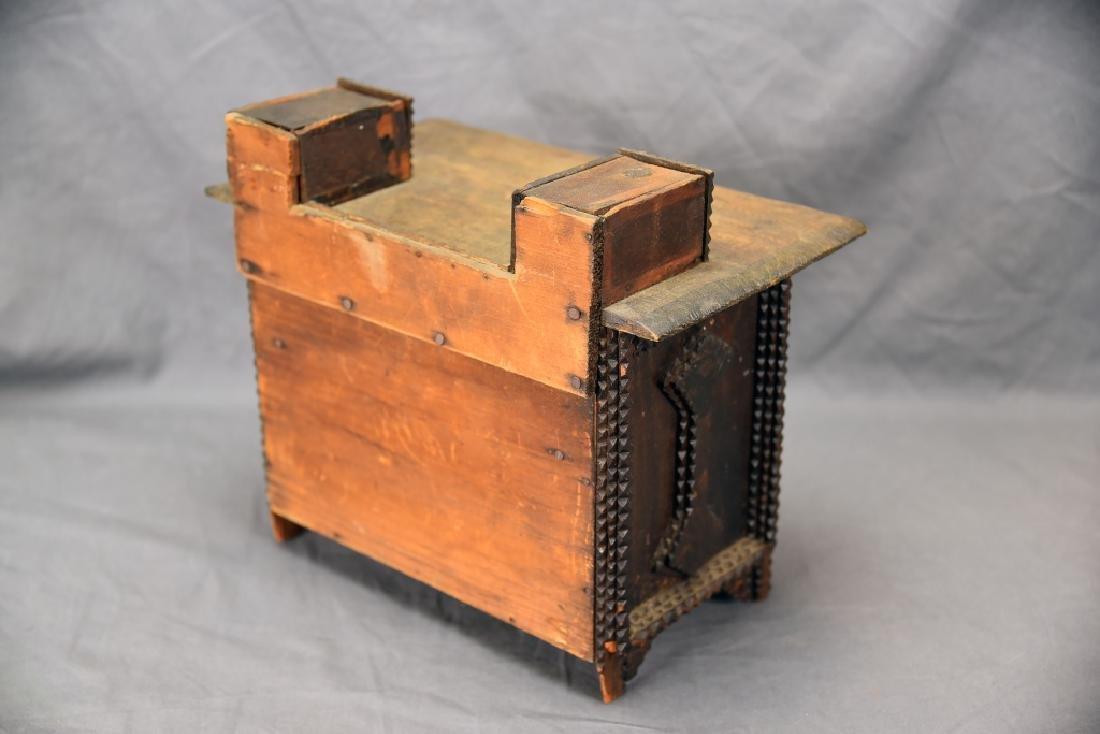 Tramp Art Miniature Dresser - 5