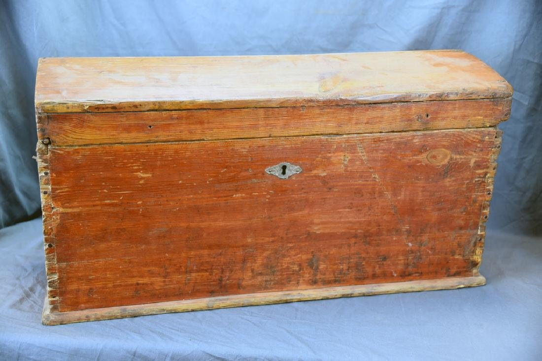 Pine Curved Top Trunk - 3