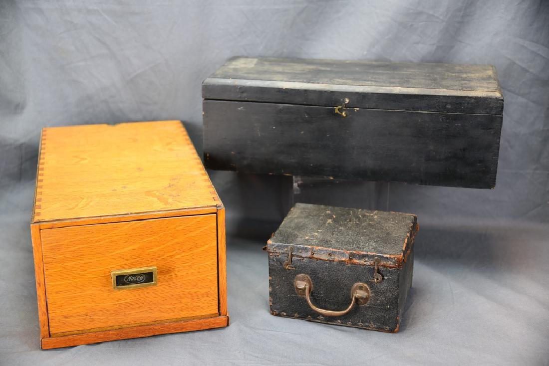 Lot of 3 Antique Boxes