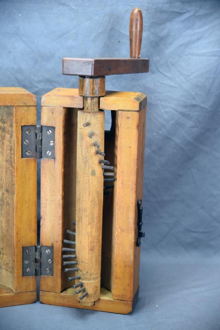Antique Wooden Flax Mill - 4