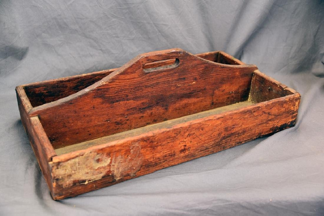 Primitive Wood Carpenters Tool Caddy