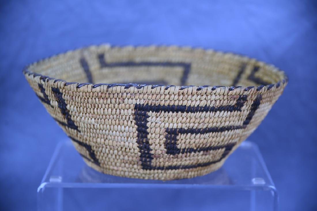 Native American Coil Basket Geometric Design