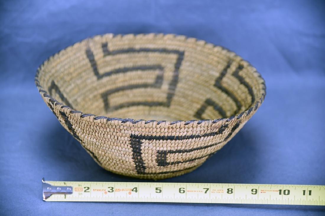 Native American Coil Basket Geometric Design - 2