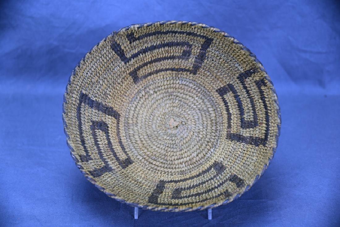 Native American Coil Basket Geometric Design - 3