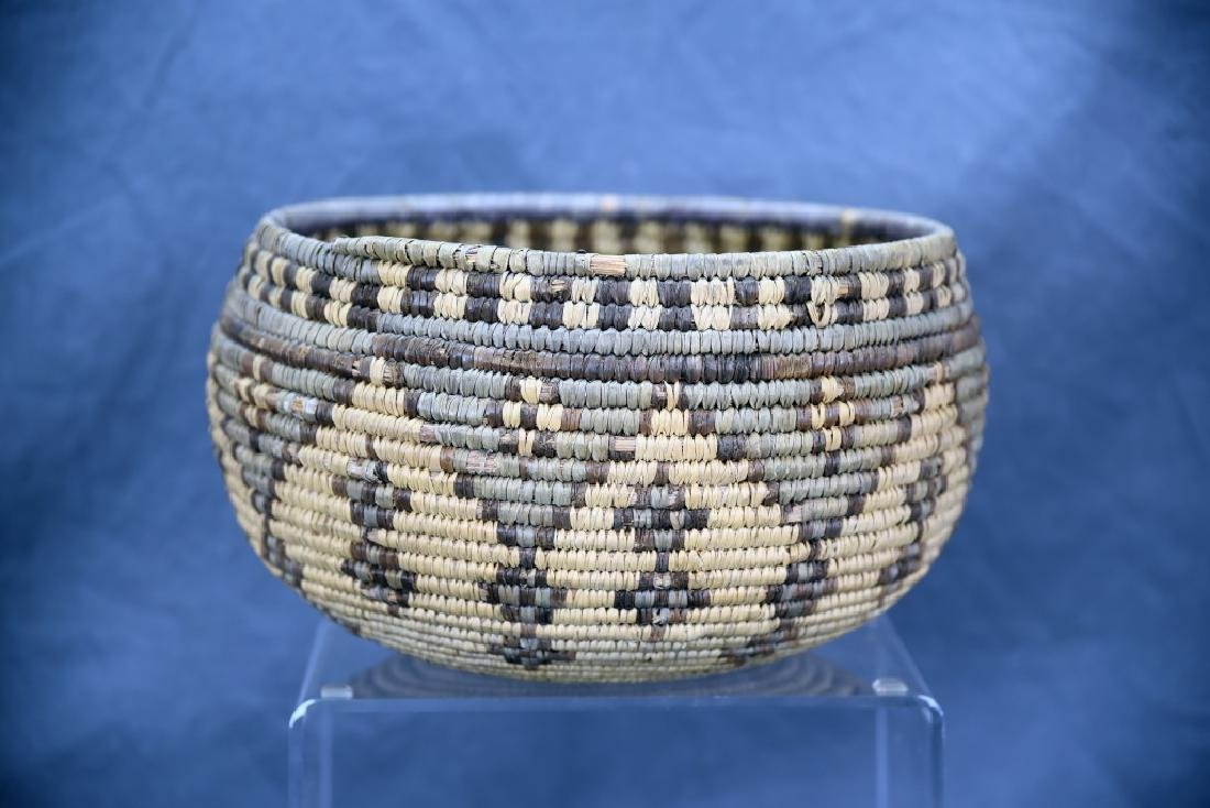 Large Native American Coil Basket