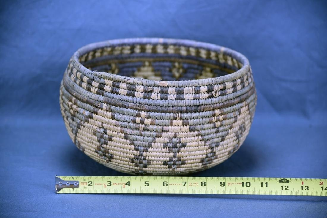 Large Native American Coil Basket - 2
