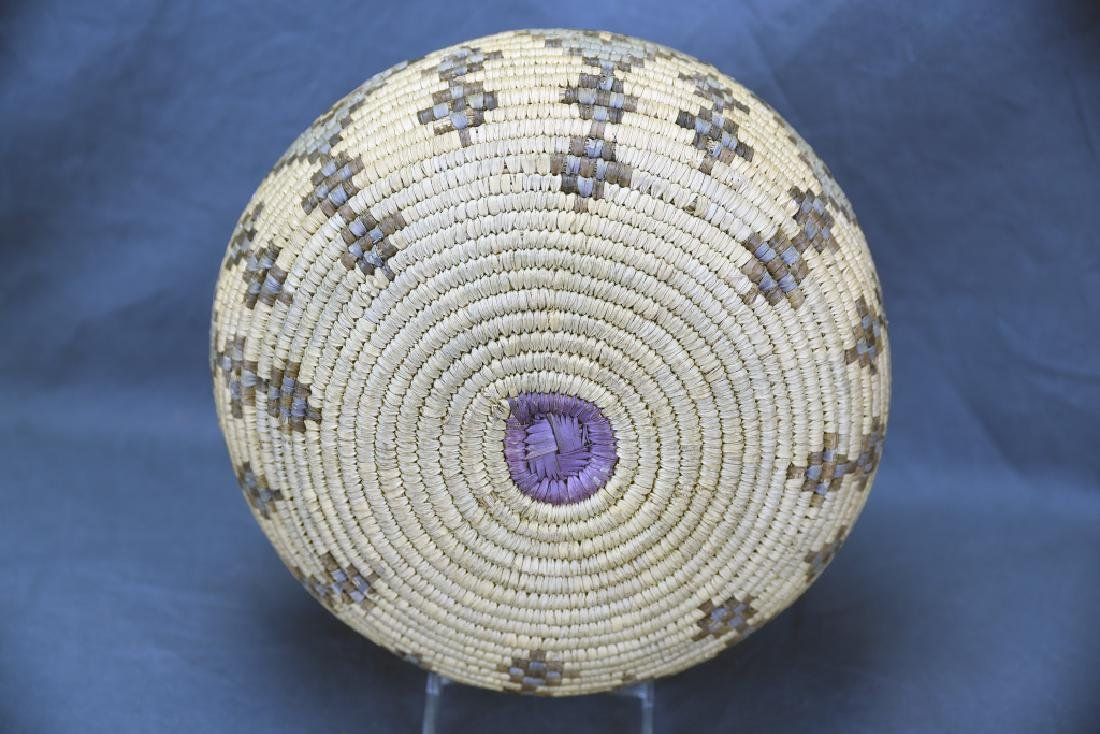 Large Native American Coil Basket - 5