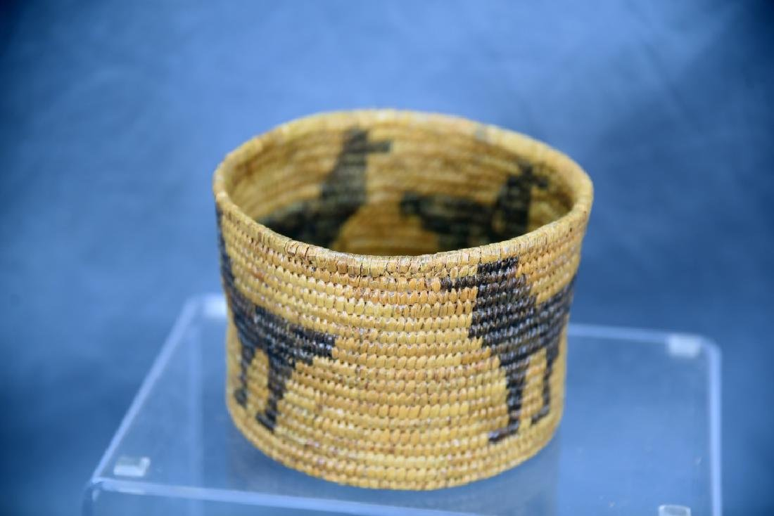 Lot of 4 Native American Coil Baskets - 10